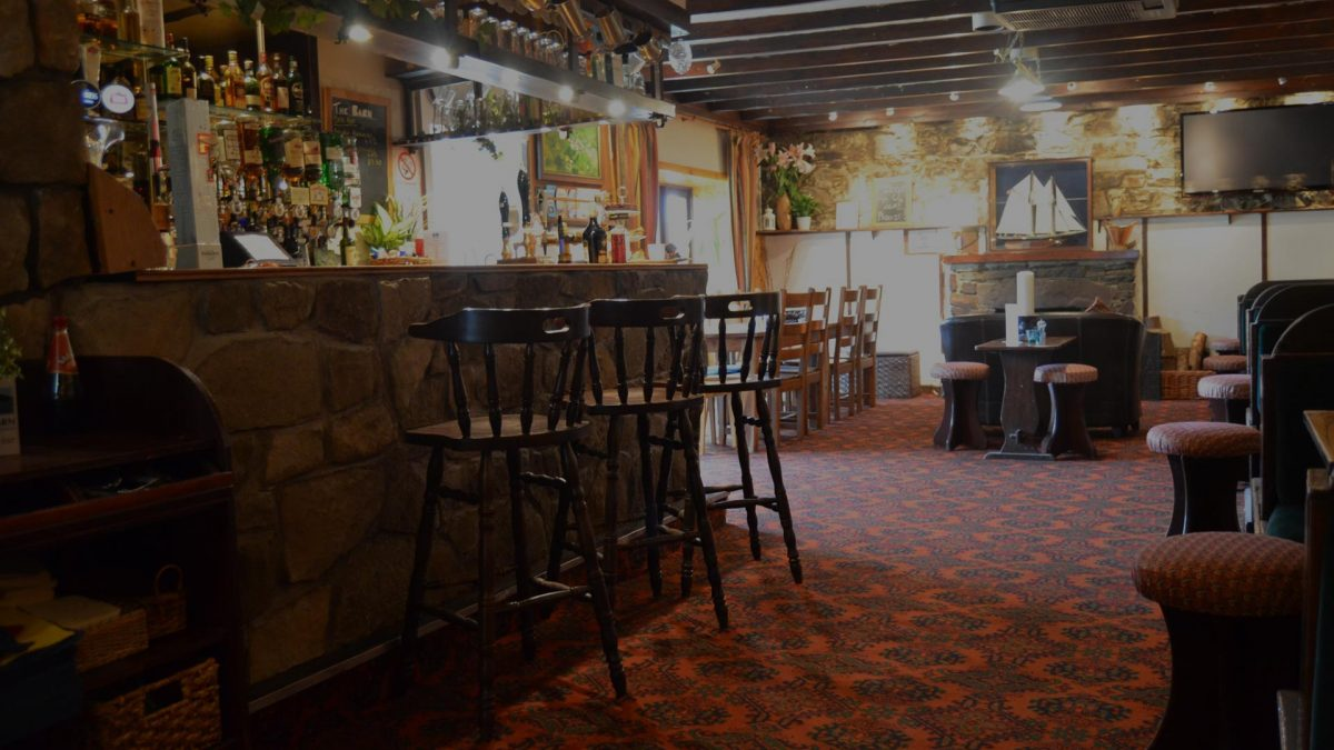 The award-winning Barn Bar at Cologin