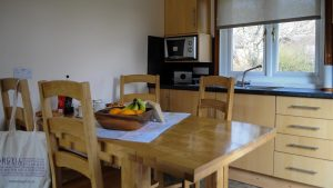 Spacious kitchen & dining area in our Inner Hebridean Lodges, Cologin near Oban