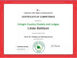 Cleaning Certificate