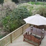The Decking area at Cologin Farmhouse